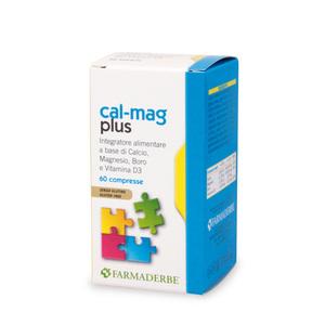 Cal-Mag Plus Integratore Alimentare a base di Minerali e Vitamina D3 Rinforzante per Ossa e Denti