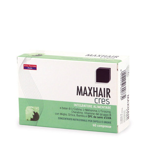 Max Hair Cres Integratore Contrasta l'Invecchiamento Precoce dei Capelli