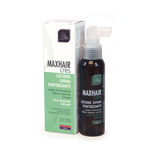 Max Hair Cres Lozione Spray Rinforzante Azione Intensiva Capelli Fragili e Diradati