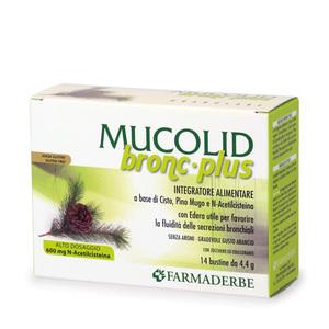 Mucolid Bronc 600 Plus Integratore Alimentare Fluidificante Decongestionante