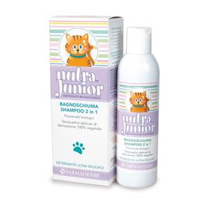 Nutra Junior Bagno Doccia Shampoo 2 in 1 per Bambini Preserva il pH Fisiologico.